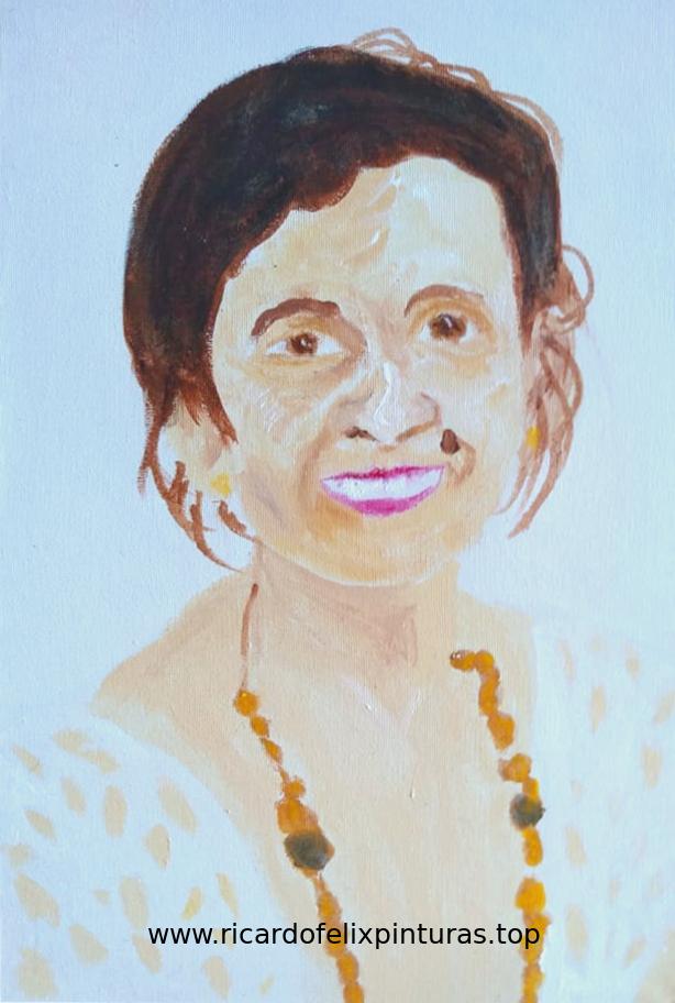 Pintura de retrato - Artista Ricardo Felix